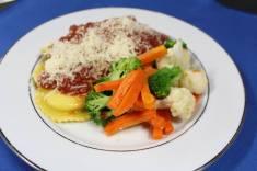 Plated Style Vegetarian Option Ravioli With Marinara
