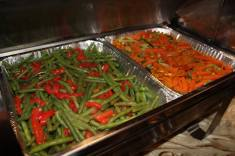 Green Beans With Roasted Red Pepper and Julienne Vegetables