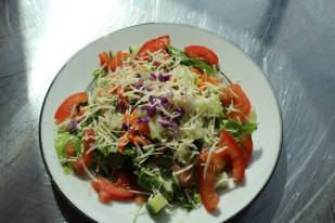 Plated Garden Salad with Asiago