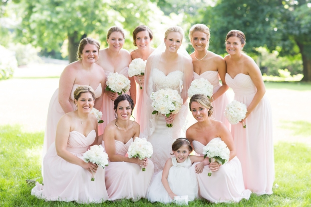 Bridesmaid Dresses in Saint Charles Illinois by Wedding Photographer