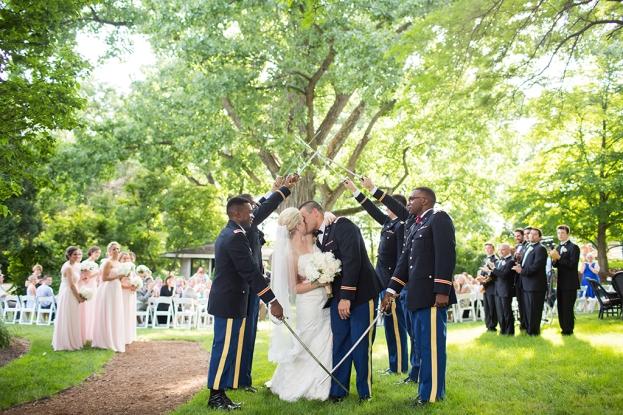Marine Wedding Ceremony by Saint Charles Wedding Photographer
