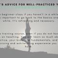 Alisa's ADvice for well-practicedyogis