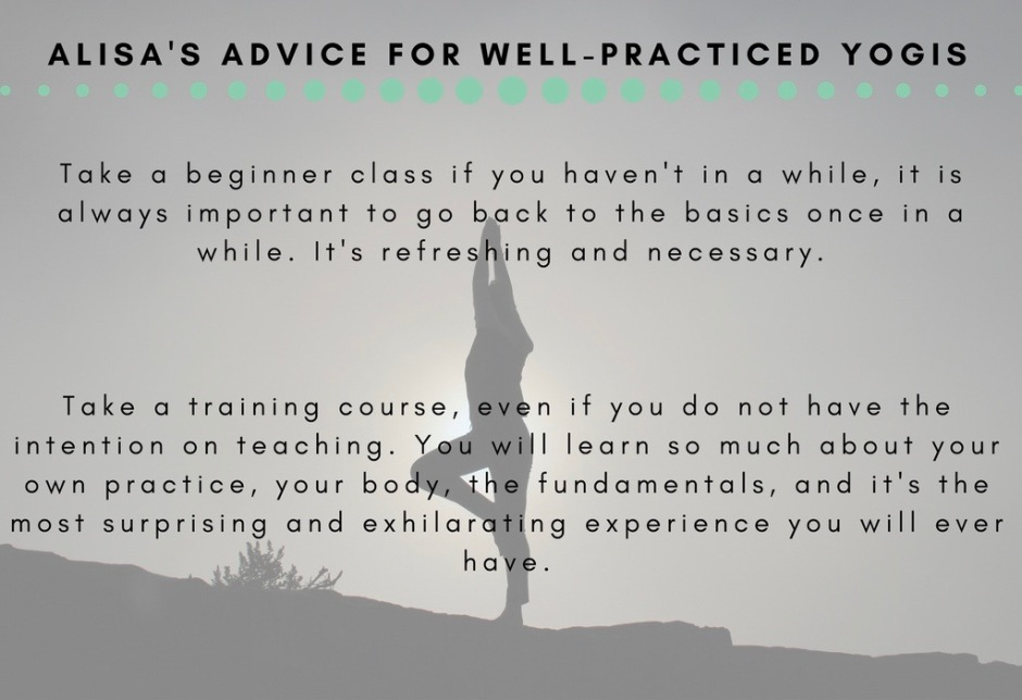 Alisa's ADvice for well-practiced yogis