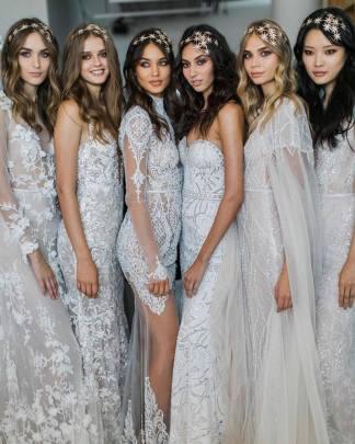 Starry-Nights-Trendy-Celestial-Wedding-Inspiration-Board-Maria-Elena-Headpiece-and-Berta-Gowns